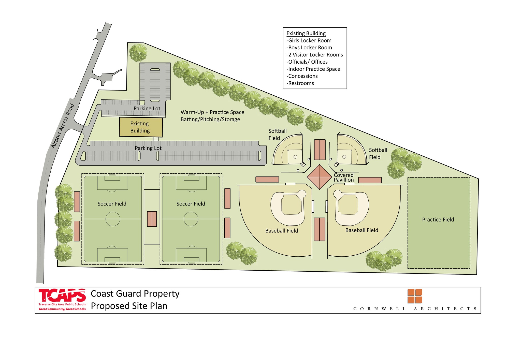 proposed coast guard athletic site plans