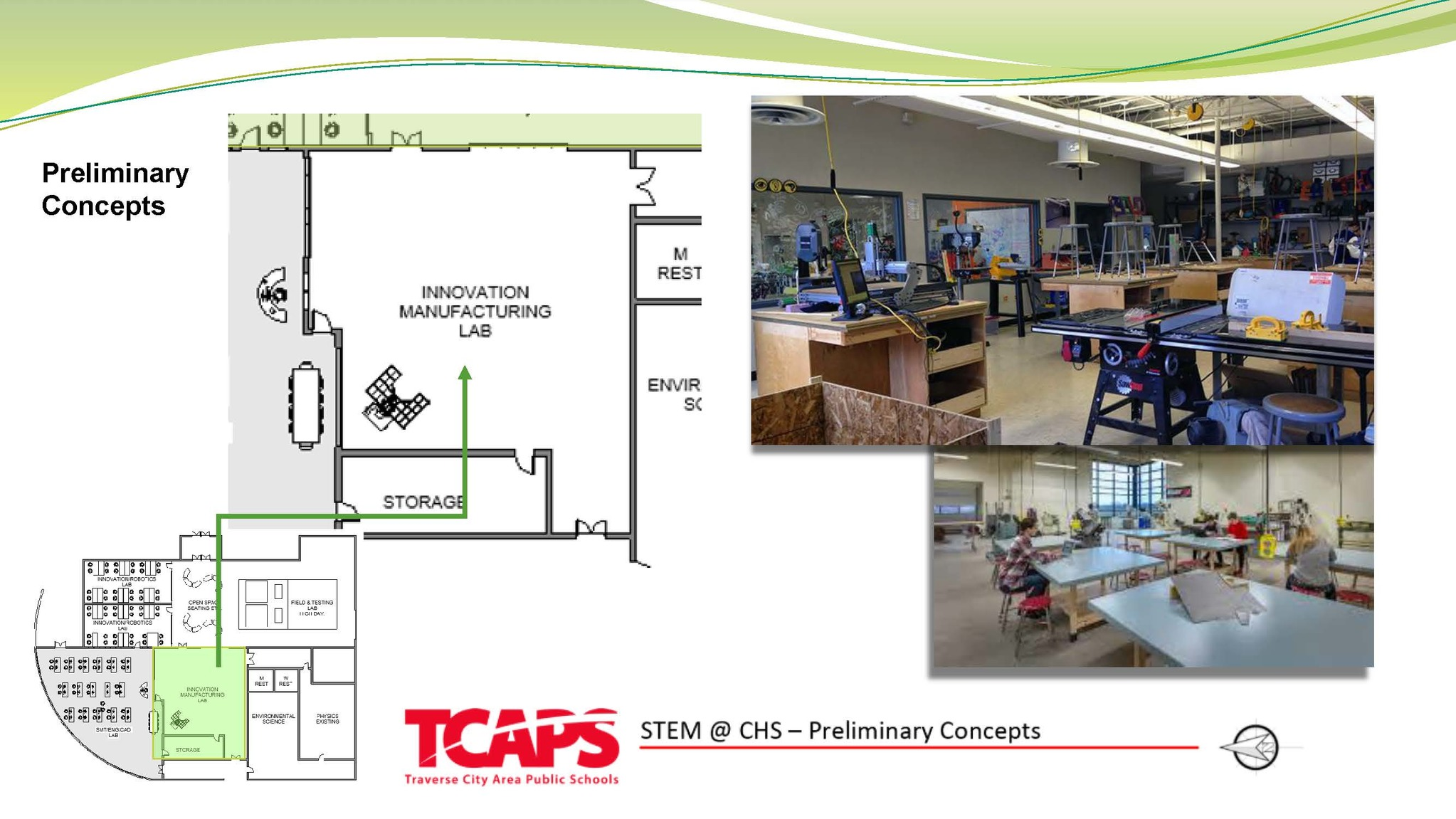 preliminary STEM innovation manufacturing lab concept