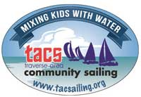 Traverse Area Community Sailing new logo - mixing kids with water