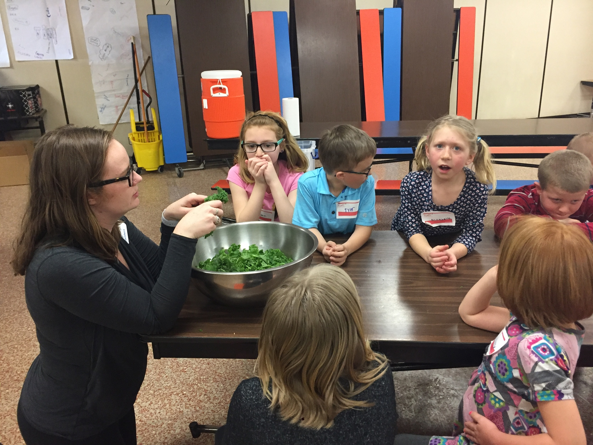 Courtade students participate in a Farm to School cooking class