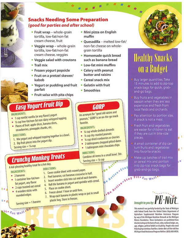 Healthy Snack Ideas and Recipes