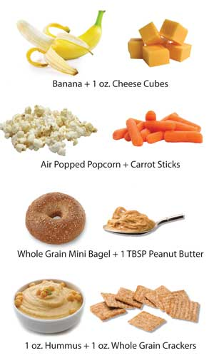Snack and portion size suggestions