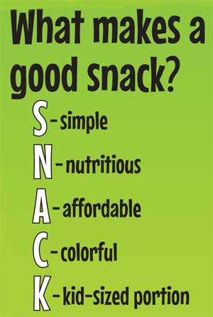 What Makes A Good Snack Graphic