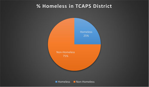 Percentage of Homeless Youth in the TCAPS District