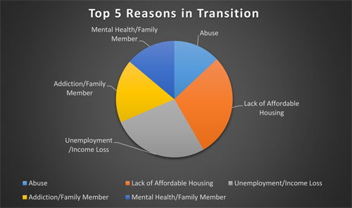 Top 5 Reasons Given for being in transition