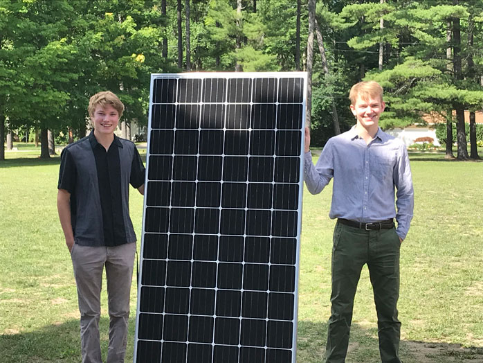 Student Co-Leaders of the CHS Solar Panel Project - Martin Chown and Elliott Smith