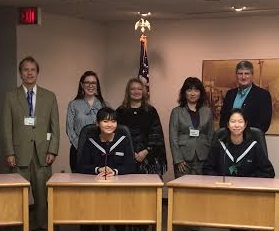 Students from Japan have the opportunity to meet Traverse City's mayor.