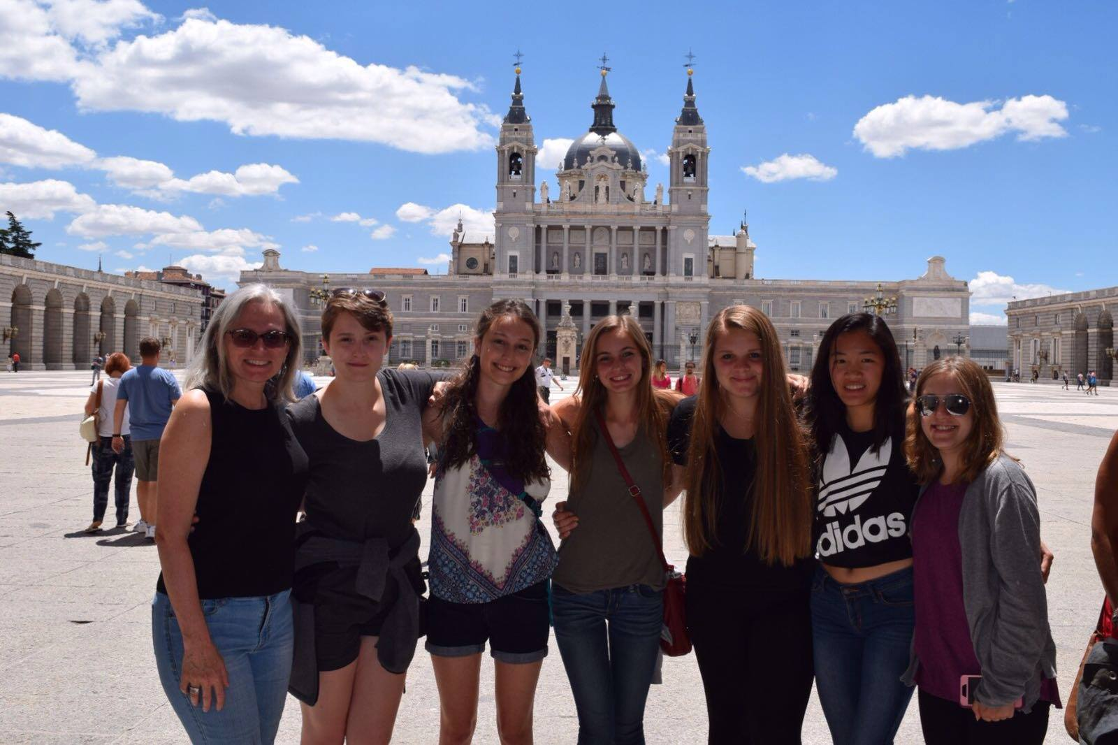 TCAPS students visiting Spain