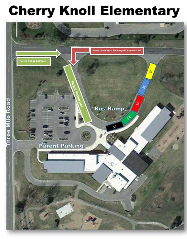 cherry knoll bus ramp parking map