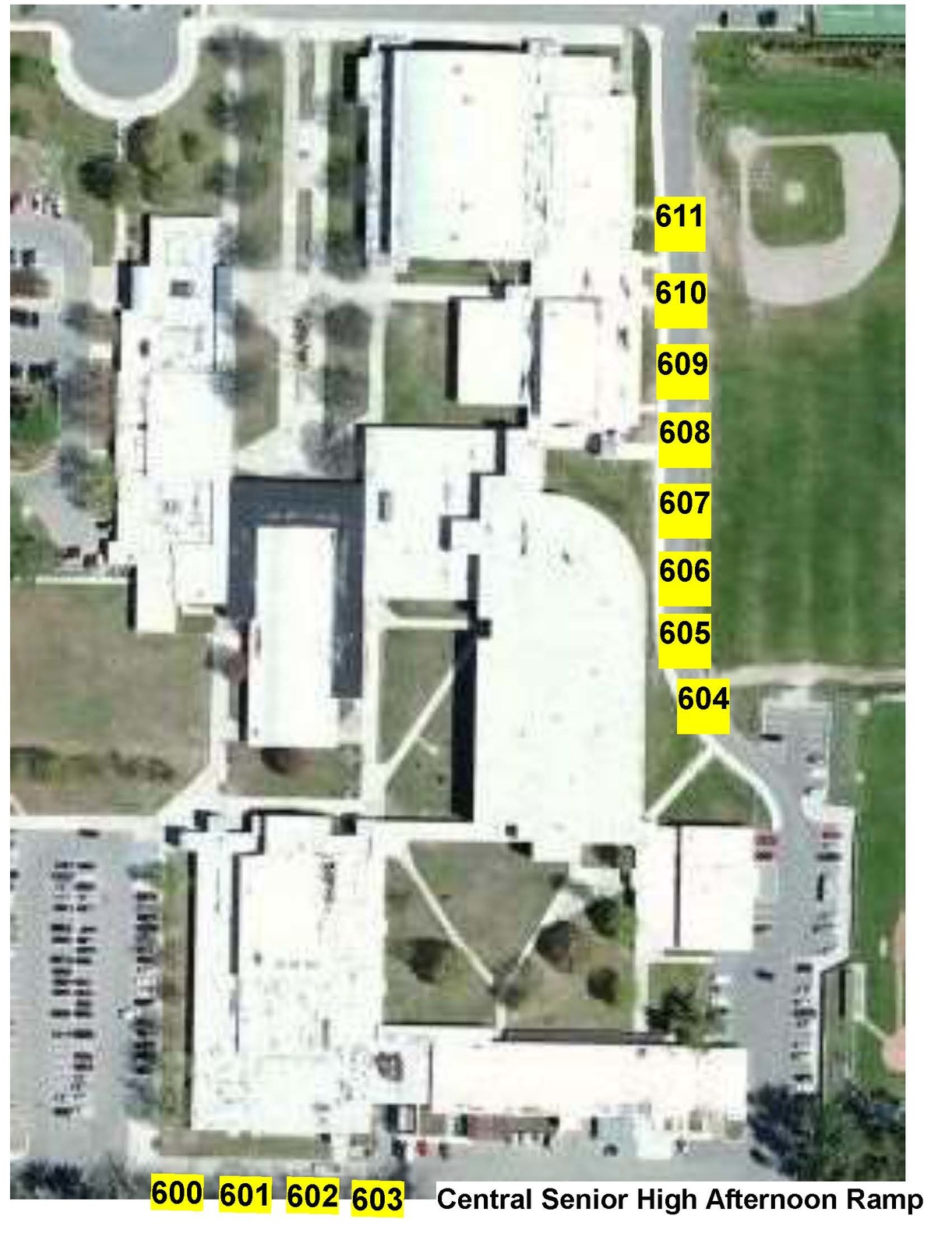 CHS PM Bus Pick Up Map
