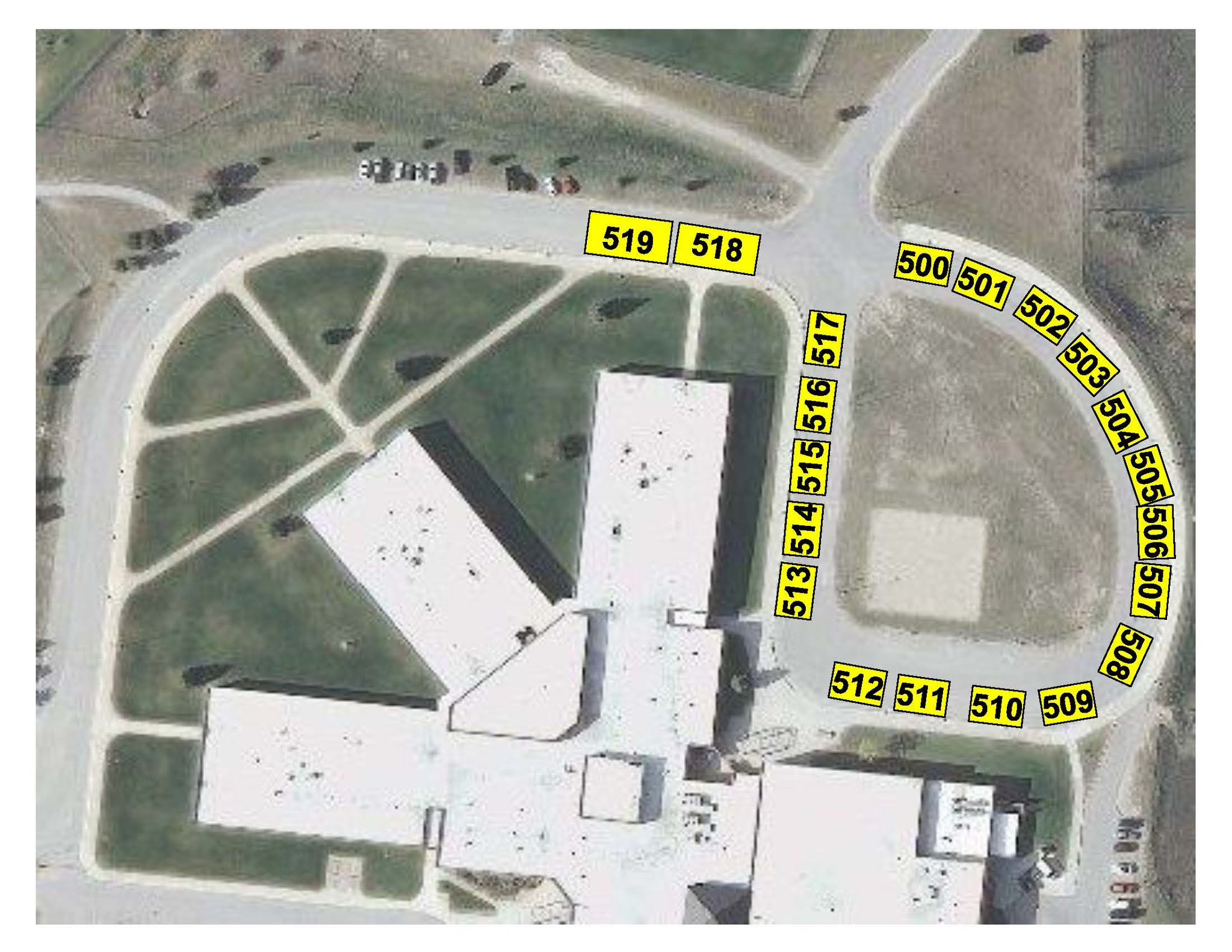 EMS PM Bus Ramp Parking Map