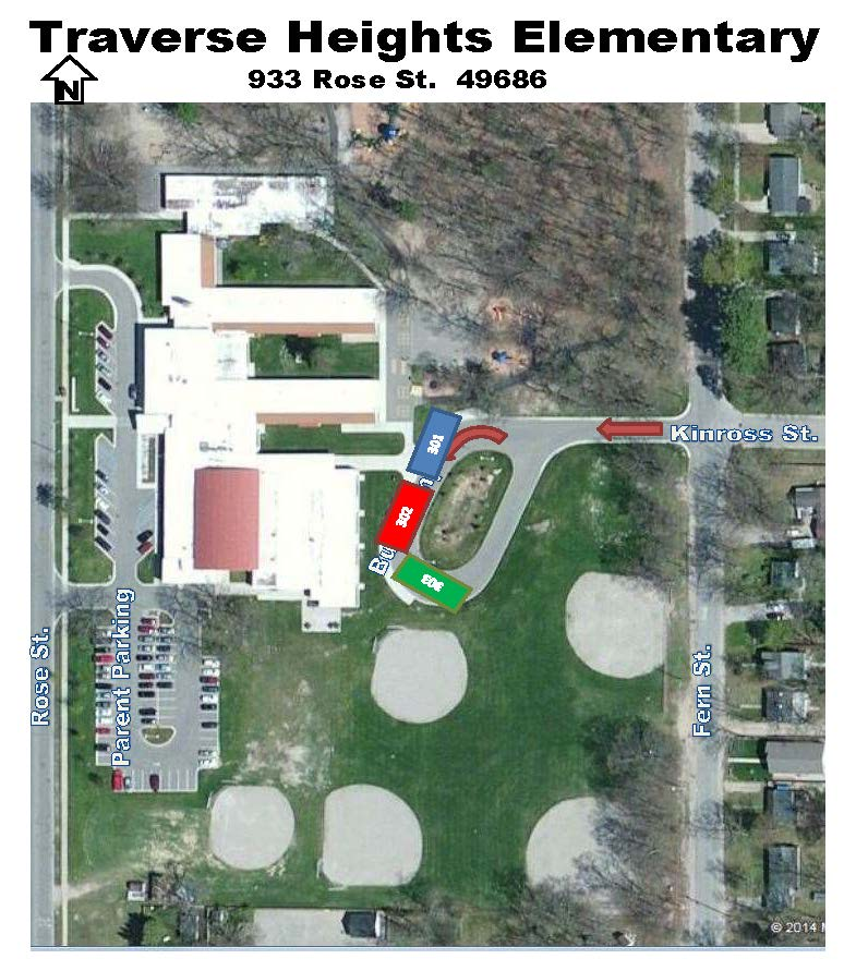 traverse heights bus ramp parking map