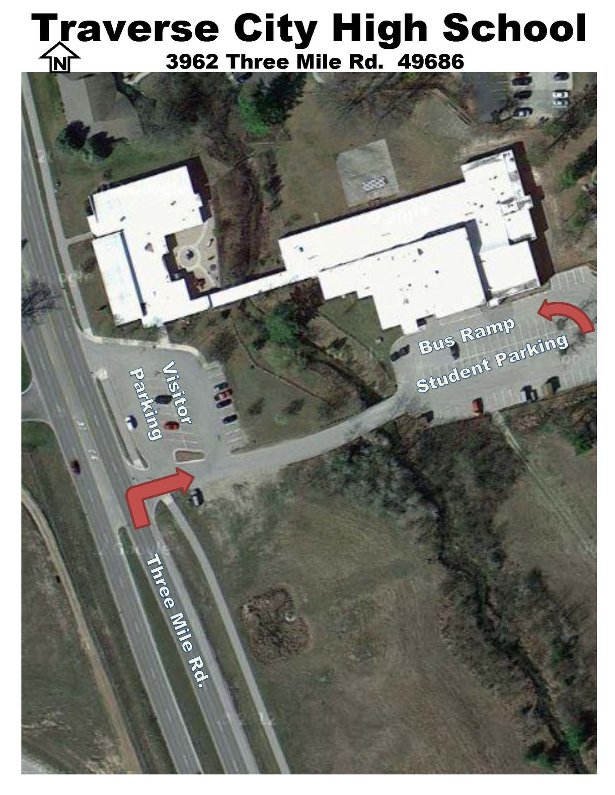 Traverse City High School Bus Ramp Map