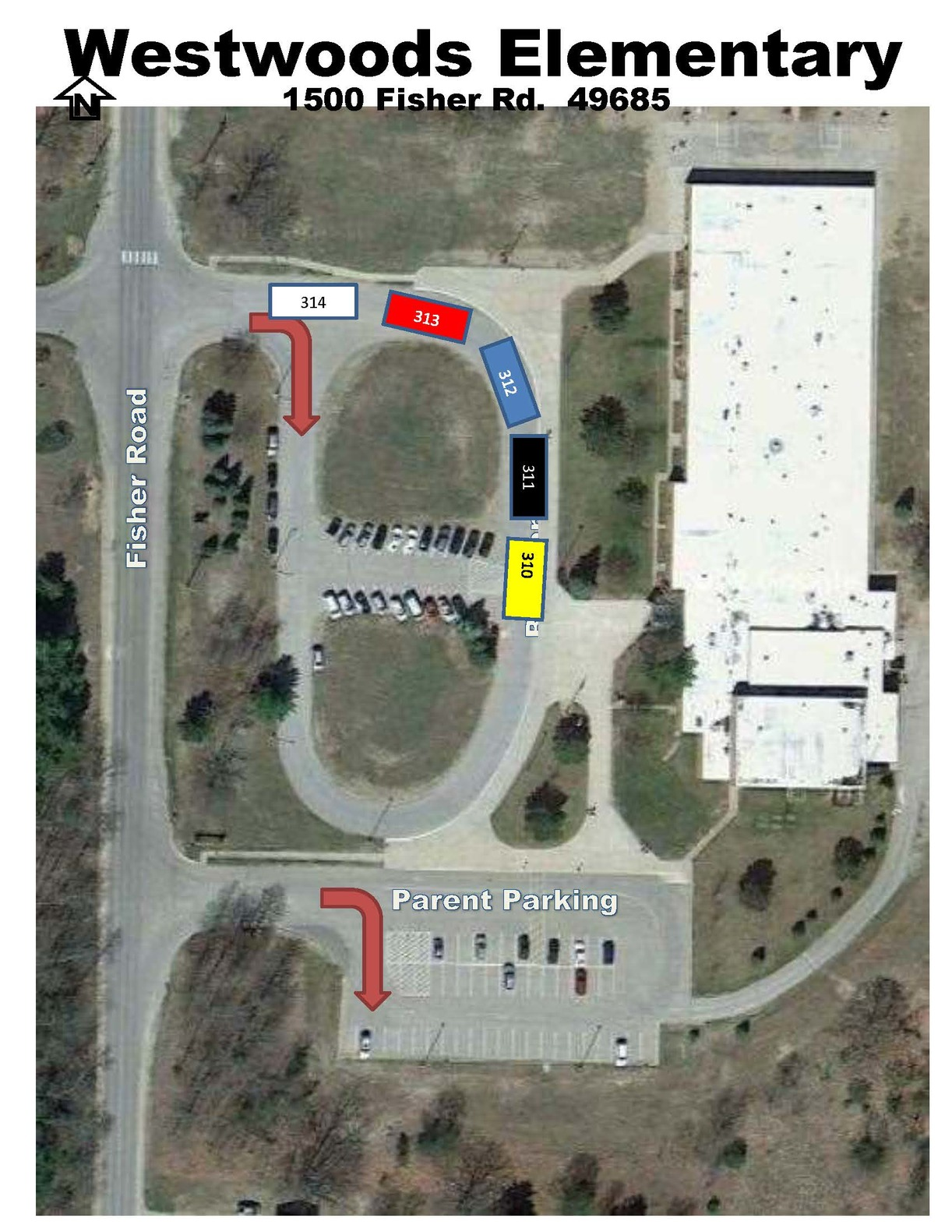 westwoods bus ramp parking map