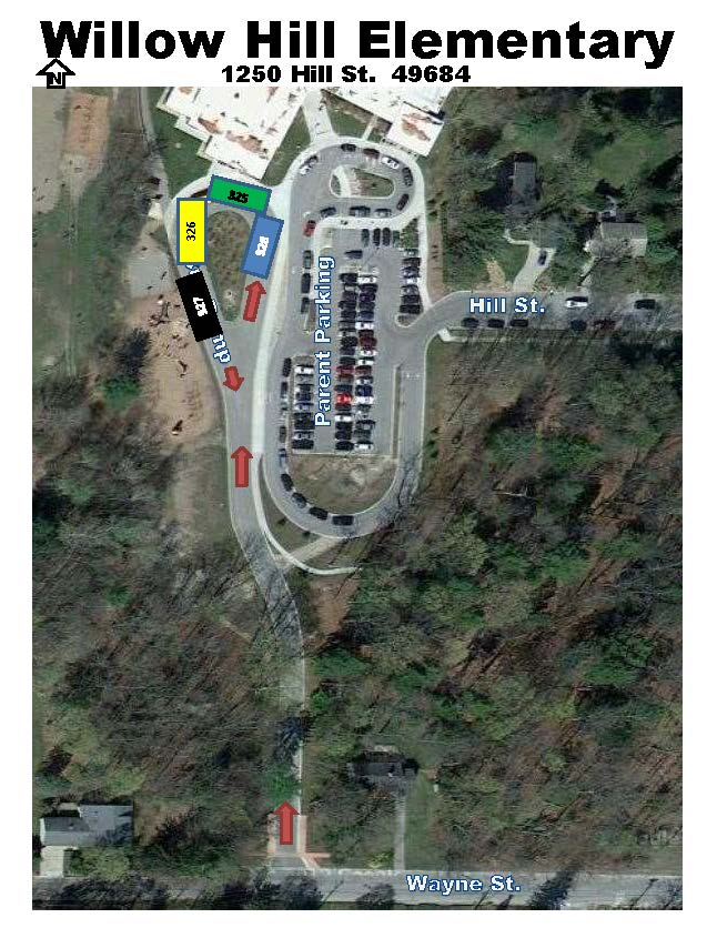 willow hill bus ramp parking map