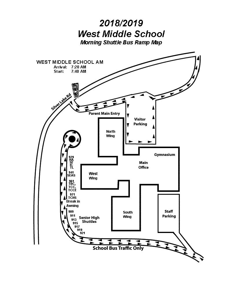 WMS morning bus ramp map