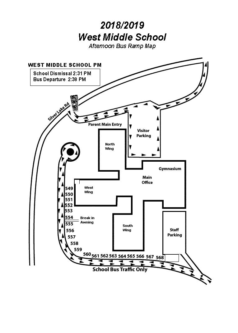 WMS PM Bus Ramp Parking Map